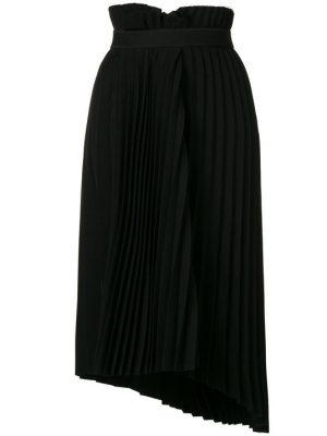 Pleated Logo Waist Skirt